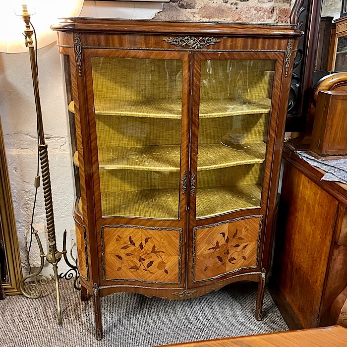 Serpentine Ormolu Display Cabinet