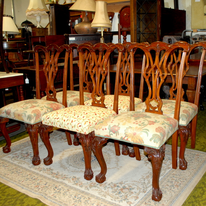 Set 6 Chippendale Style Dining Chairs | Treasure Trove, Antique Shop,  Castlebridge, Wexford | Antiques, Vintage U0026 Used Furniture | Collectibles