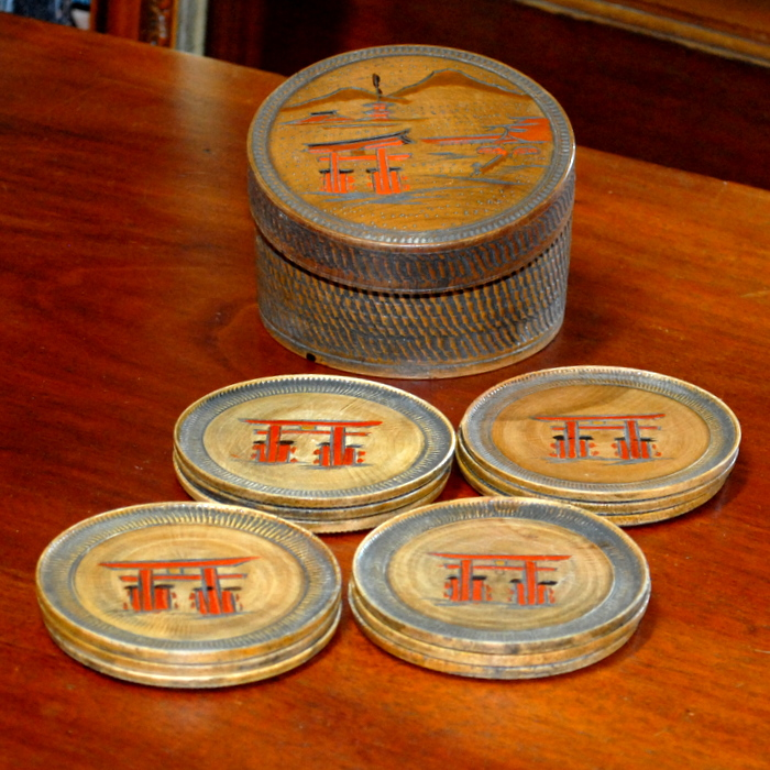Set of Chinese Coasters