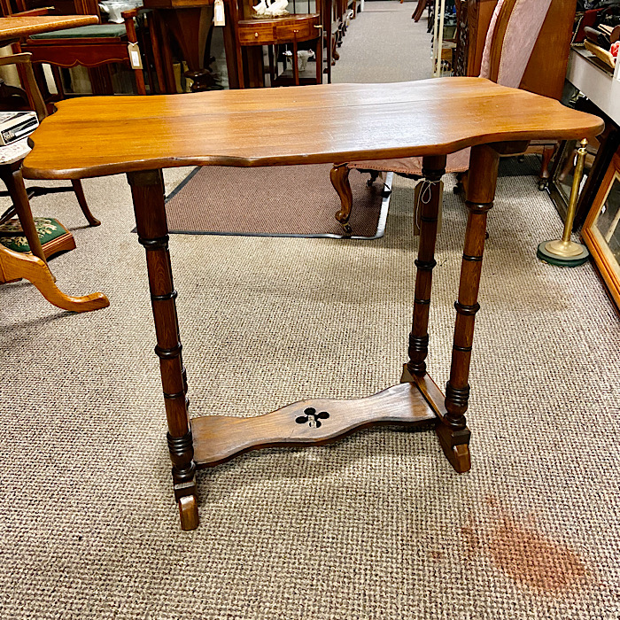 Small Victorian Stretcher Table