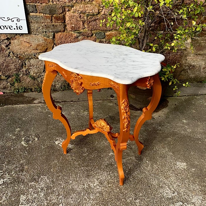 Marble & Gilt Occasional Table