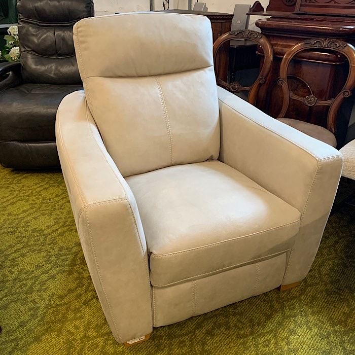 Stone Coloured Reclining Armchair