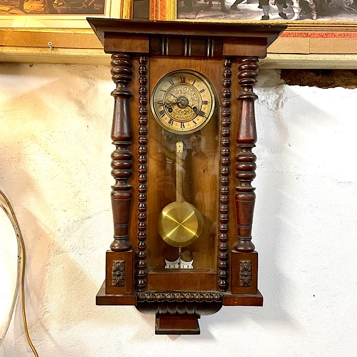 Victorian Carved Wall Clock