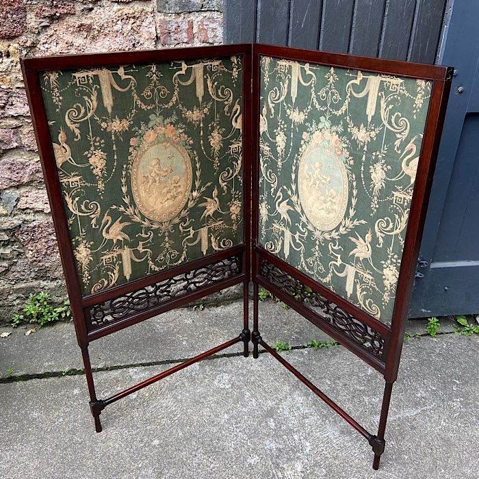 Victorian Folding Fire Screen
