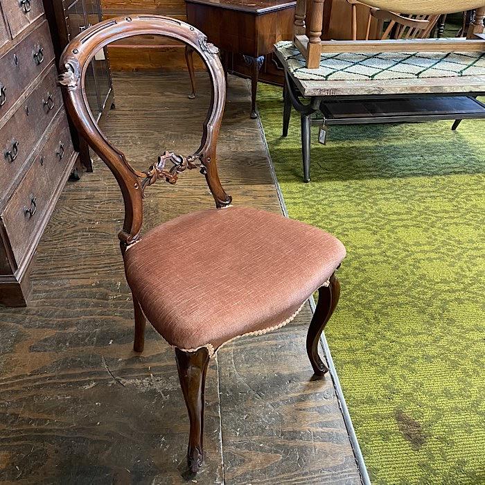 Victorian Mahogany Balloon Back Chair
