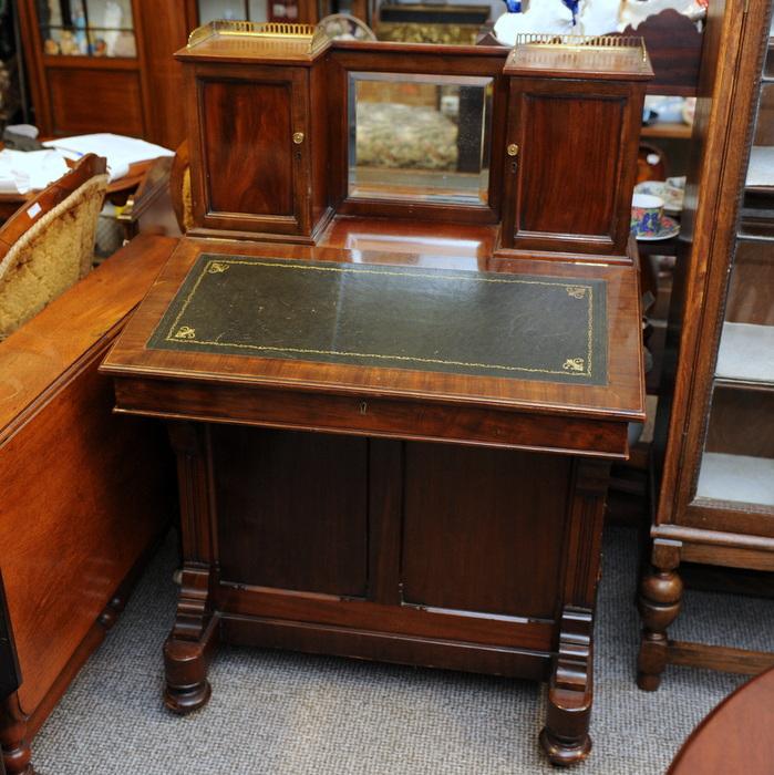 Victorian Mahogany Davenport Writing Desk