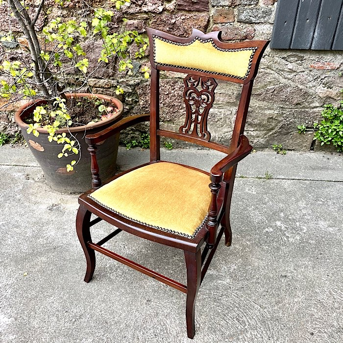Victorian Mahogany Elbow Chair