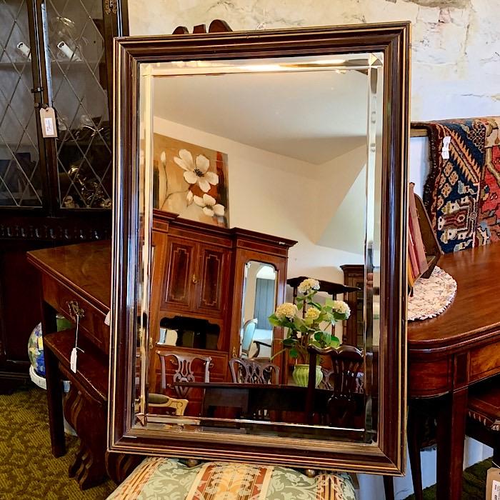 Victorian Mahogany Framed Mirror