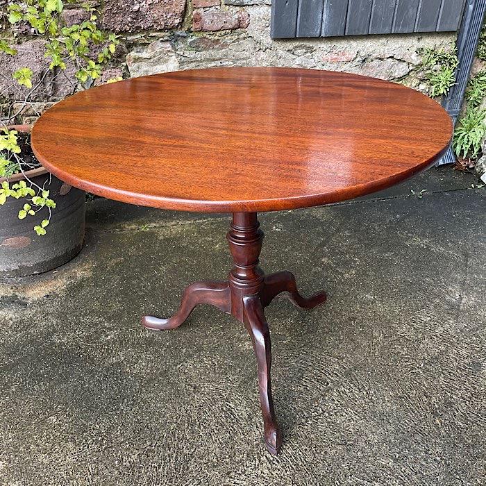 Victorian Mahogany Tilt-Top Tripod Table