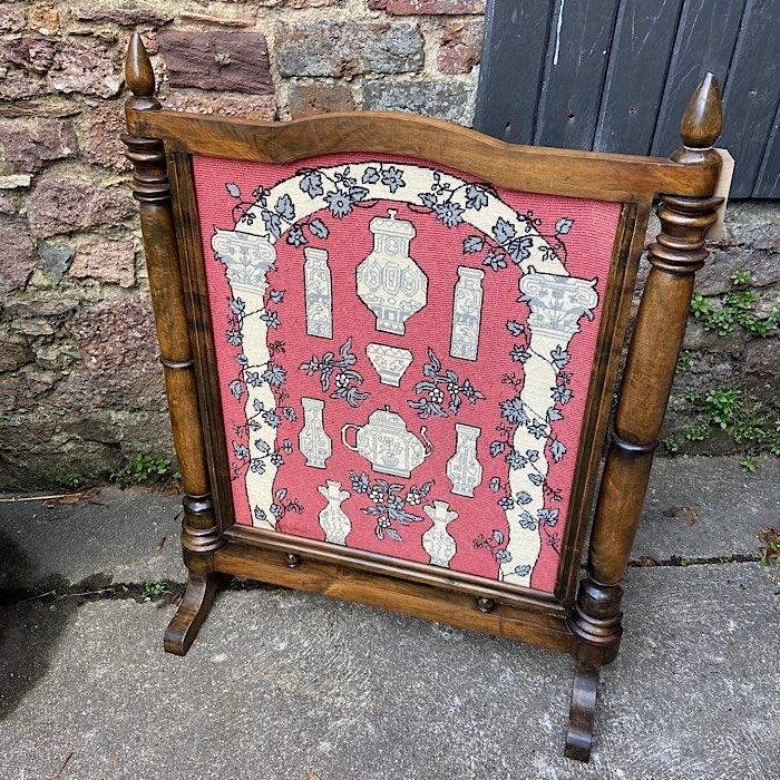 Victorian Tapestry Firescreen