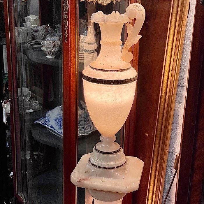 Vintage Alabaster Vase Lamp