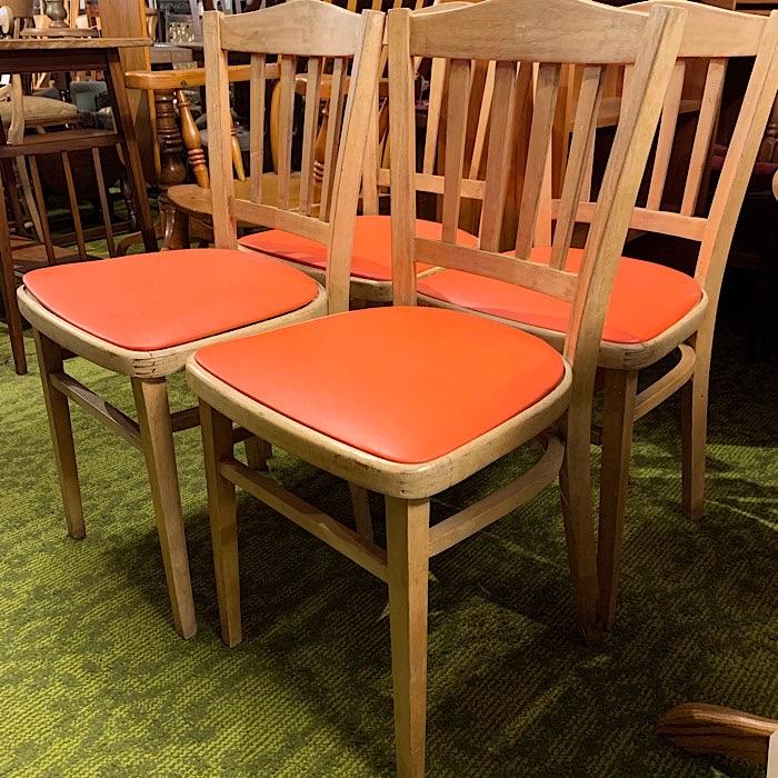 Vintage Beech Kitchen Chairs