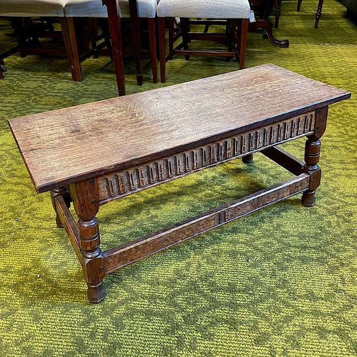 Vintage Carved Oak Coffee Table
