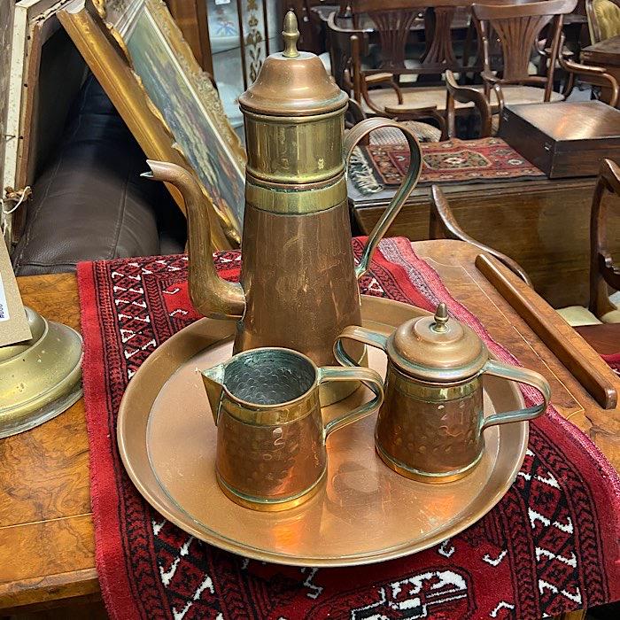 Vintage Copper Tea Set