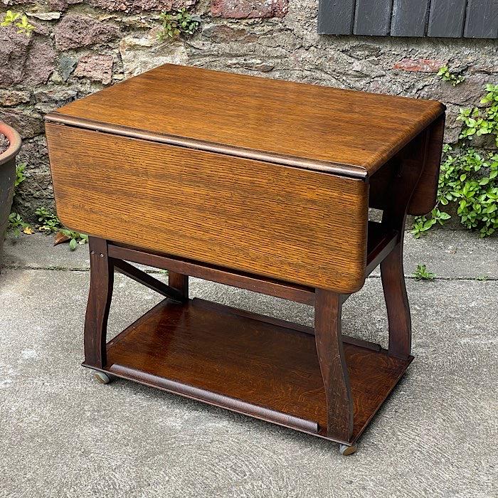 Vintage Drop Leaf Trolley Table