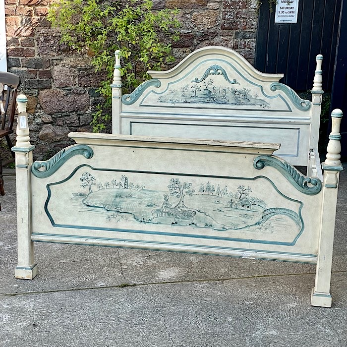 Vintage French Painted Kingsize Bed