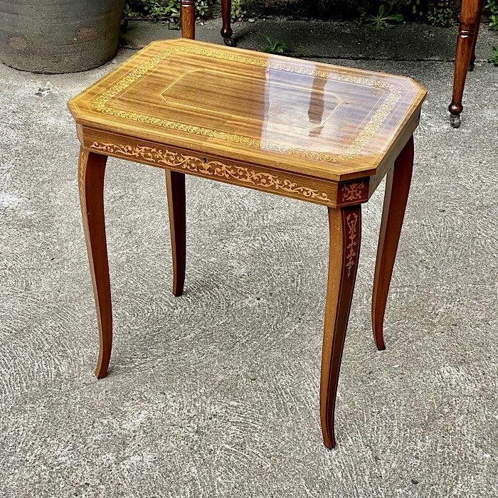 Vintage Italian Inlaid Music Table