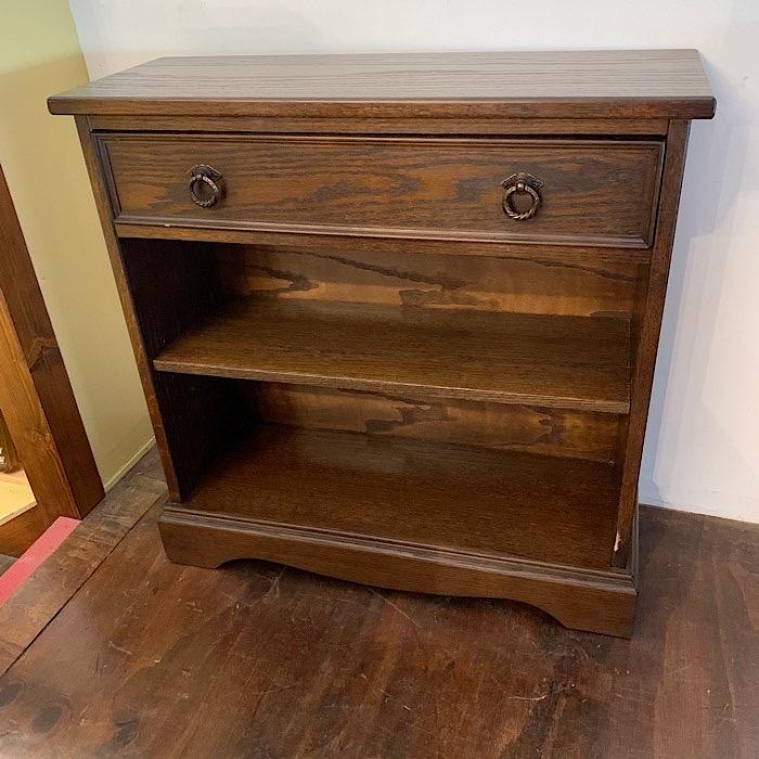 Vintage Jaycee Oak Open Bookcase