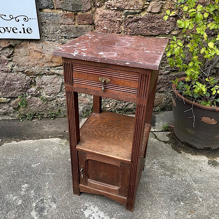 Vintage Marble Top Night Stand