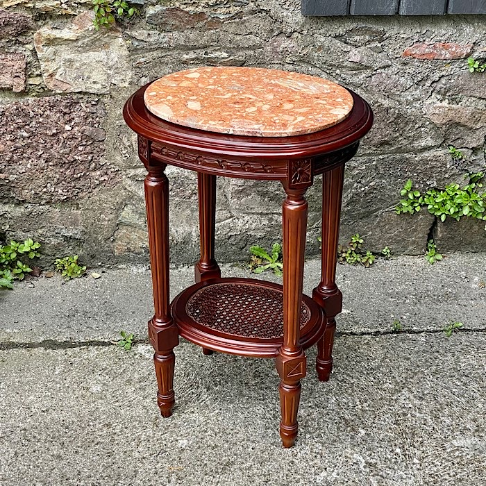 Vintage Marble Topped Plant Stand