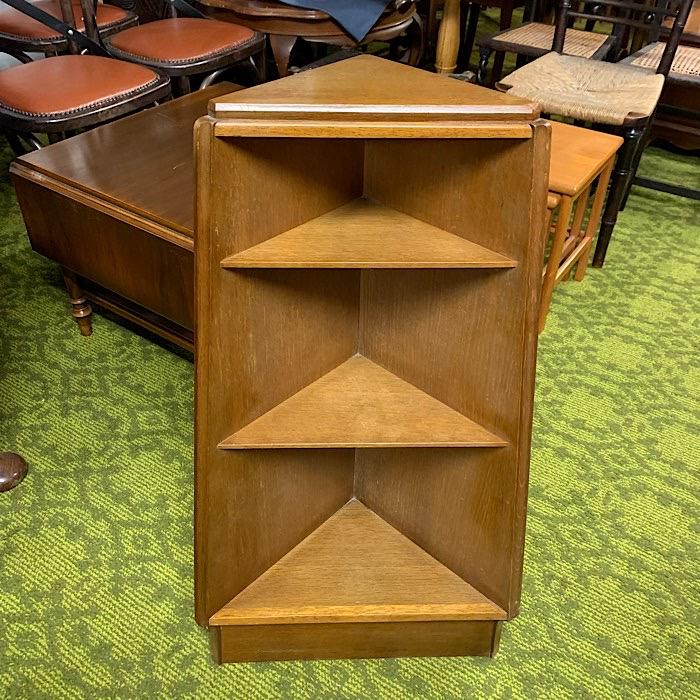 Vintage Oak Corner Bookcase