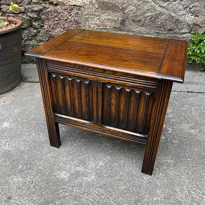 Vintage Oak Sewing Box