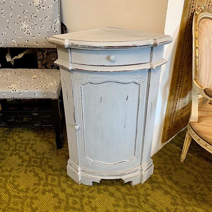 Vintage Painted Corner Cabinet