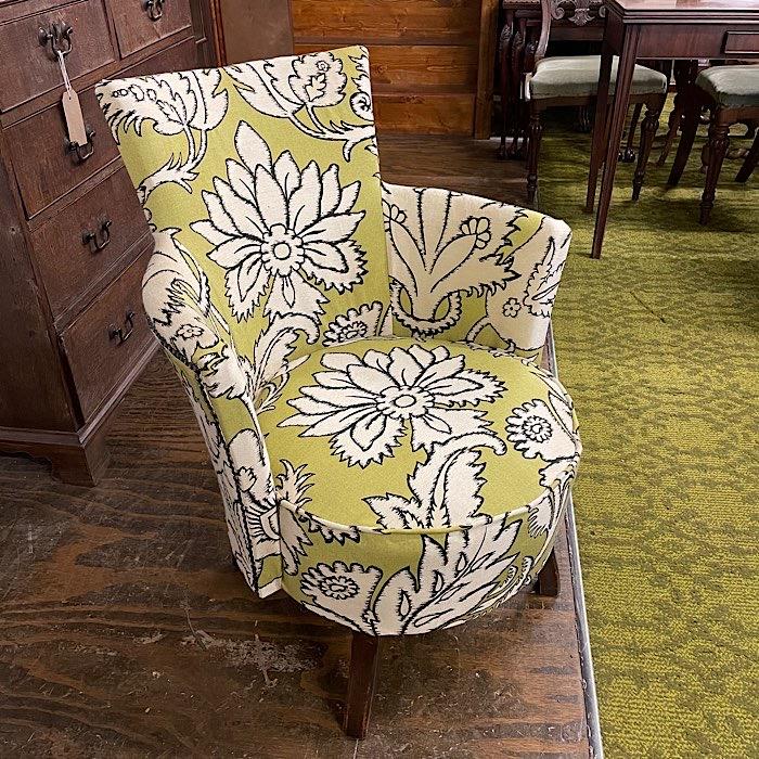 Vintage Reupholstered Bedroom Chair