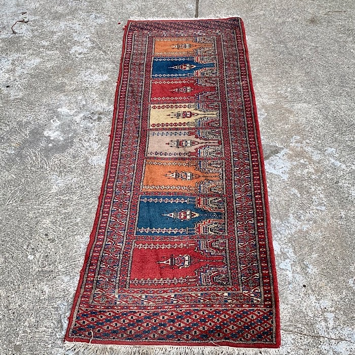 Vintage Handmade Rug 266 X 78