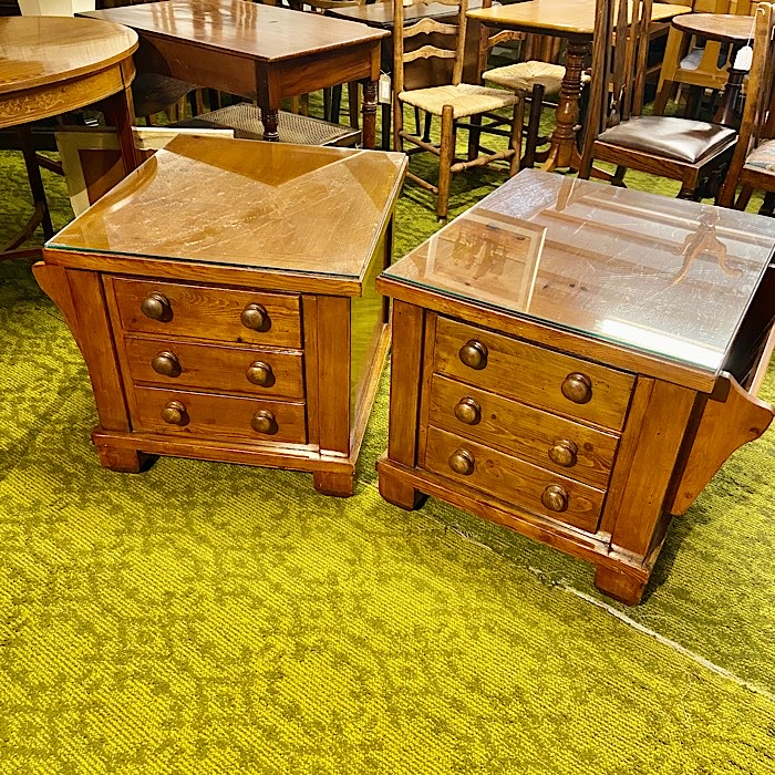 Vintage Style End Table Chests
