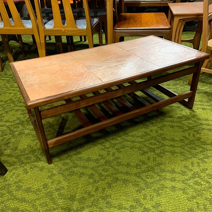 Vintage Teak & Tiled Top Coffee Table