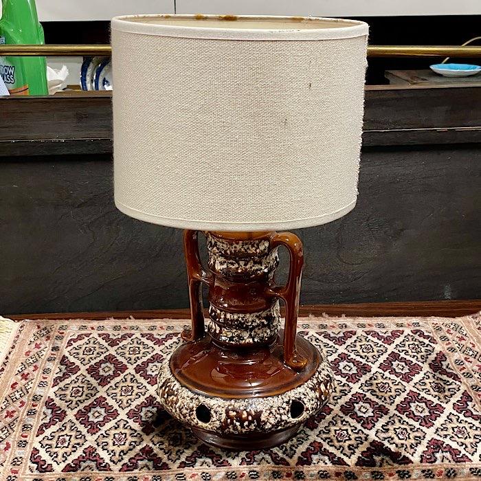 Vintage West German Glazed Lamp