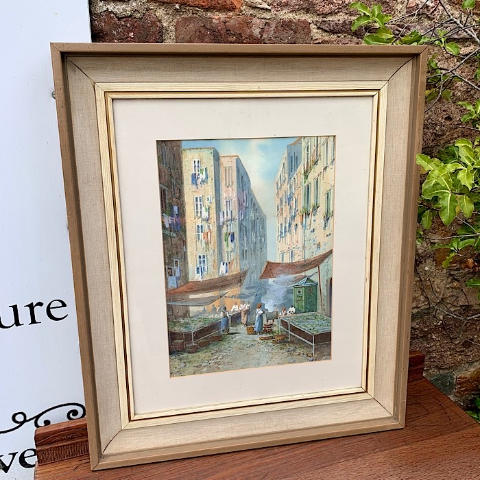 Y Gianni Gouache Painting