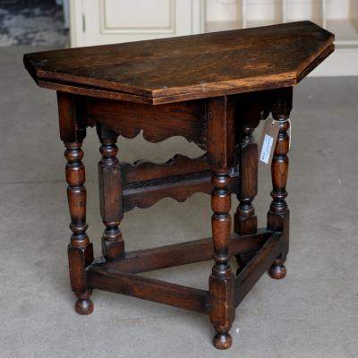 17Th Century Oak Fold Over Side Table