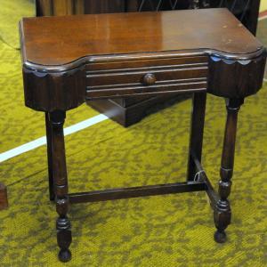 1950's Oak Single Drawer Side Table