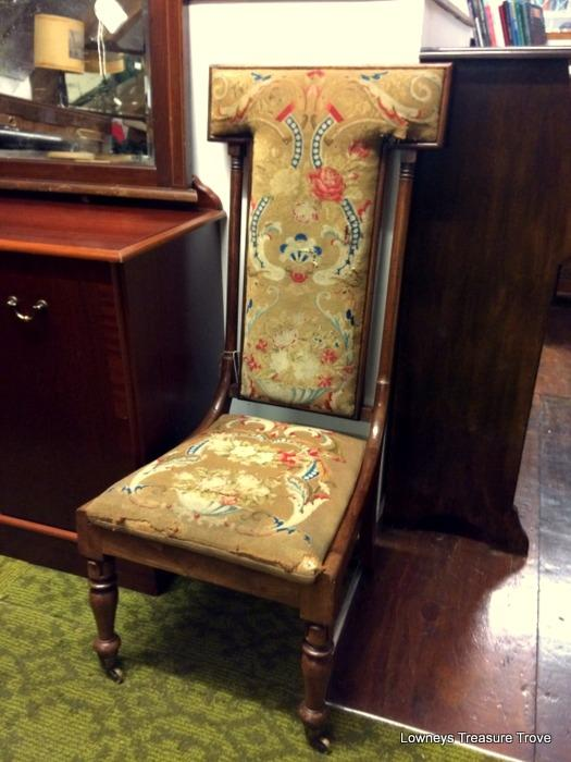 Antique Walnut Prayer Chair. ' - Antique Walnut Prayer Chair Treasure Trove, Antique Shop