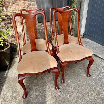 Four Vintage Mahogany Dining Chairs