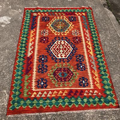 Afghan Kellim Hand Woven Wool Rug