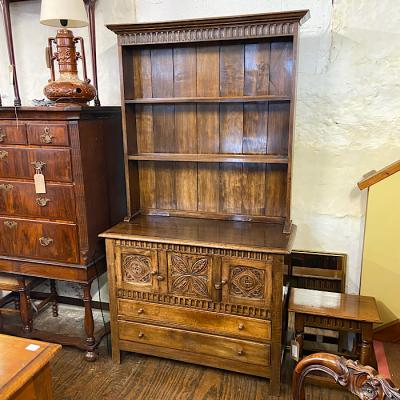 Antique 17th Century Style Carved Oak Dresser