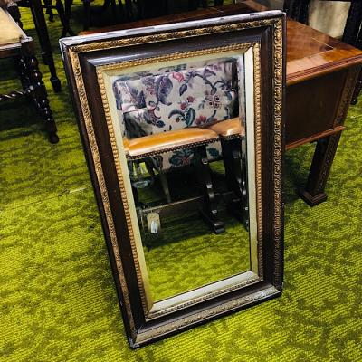 Antique Framed Bevelled Mirror