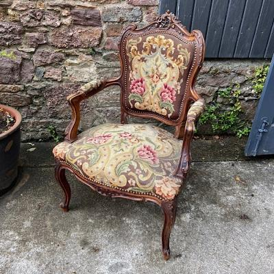 Antique French Louis XV style Arm Chair