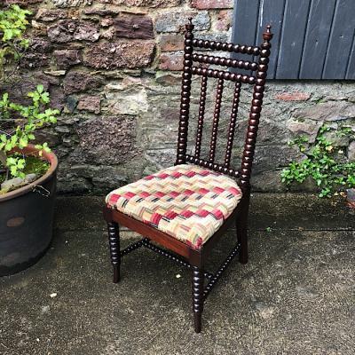Antique Mahogany Bobbin Chair