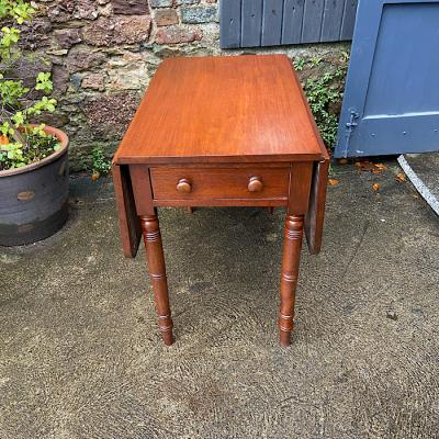 Antique Mahogany Drop-Leaf Dining Table