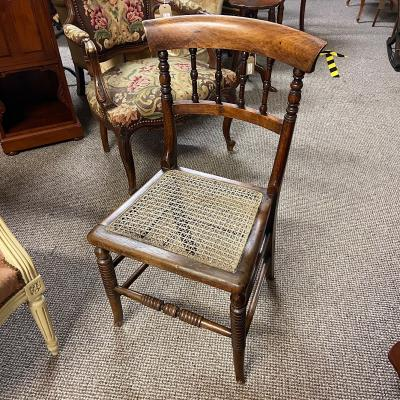 Antique Rattan Seat Chair