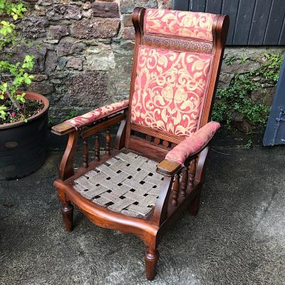 Antique Reclining Armchair