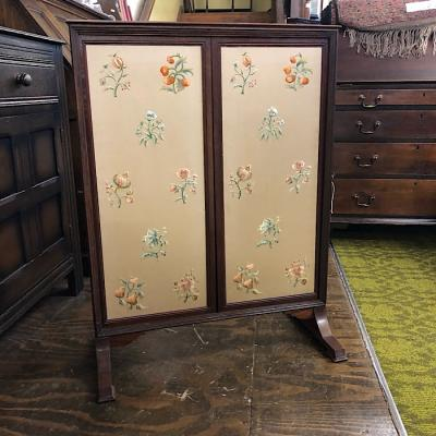 Antique Sliding Panel Firescreen