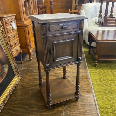 Antique Tall Bedside Cabinet