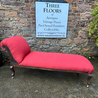 Antique Upholstered Chaise Lounge