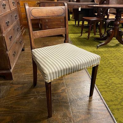 Antique Walnut & Upholstered Chair