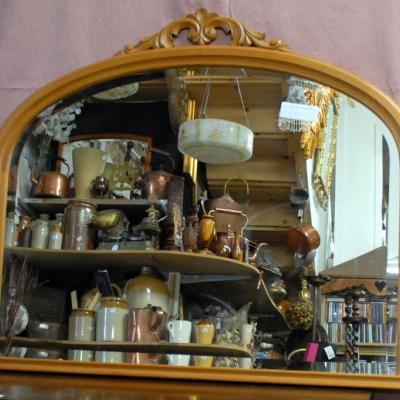 Arch Top Overmantle Mirror